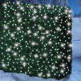 The Holiday Aisle® Alsager Solar Powered Integrated LED Outdoor Wall Lantern Plastic in White, Size 7.28 H in | Wayfair