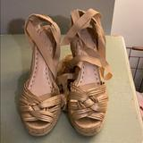 Coach Shoes   Coach Gold Espadrille Wedge With Wrap Up Ribbons   Color: Gold/Yellow   Size: 9