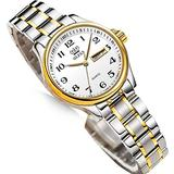 Small Dial Silver and Gold Watches for Women,Fashion Ladies Day and Date Watch,Stainless Steel Lady Wristwatch Large Number,OLEVS Waterproof Woman Watches Two Tone Dress Female Watch relojes de Mujer