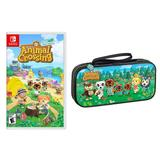 Animal Crossing: New Horizons + Animal Crossing Deluxe Travel Case for Nintendo Switch Game & Case Bundle, Multicolor