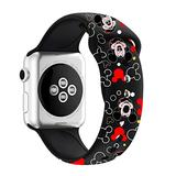 MIADEAL Mickey & Minnie Mouse Bands for Apple Watch, Fit All iWatch Series, 38mm/40mm/42mm/44mm (Black, 42mm or 44mm)