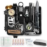 Dad's Gift 35 in 1 Survival Gear and Equipment, Emergency Survival Kit, Survival Gear Gifts for Men, Outdoor Survival Tool for Hiking, Hunting, Camping Adventures, Outdoors Sport