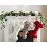 Safavieh Home Collection Chestnut Dog Bone 20-inch Hanging Holiday Christmas Stocking (Set of 3)