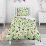 KiySi 2 Piece Toddler Bedding Set African-American-Princess-Frog-Racial-Green- Hypoallergenic Children Quilt Cover