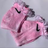 Nike Accessories | Nike Ankle Ruffle Tie-Dye Socks | Color: Blue/Pink | Size: Os