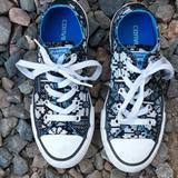 Converse Shoes   Converse Low Top Canvas Printed Sneakers Kids Sz 1   Color: Black/White   Size: 1g
