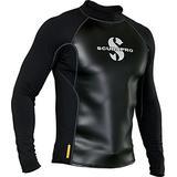 Scubapro Men's Hybrid Thermal Diving Top, Long-Sleeve, 2X-Large, Black