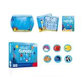 LoveIyPet Sudoku Board Games Number Puzzle Travel Toy - Over 3 Years Old Kids Educational Toy, Develops Cognitive Thinking, Memory,Tropical Fish