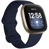Versa 3 Midnight Blue Strap Smart Watch 39mm - Blue - Fitbit Watches