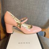 Gucci Shoes | Gucci Patent Leather Mary Jane Pumps | Color: Pink | Size: 10