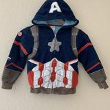 Disney Shirts & Tops   Marvel Captain America Detailed Hoodie Sweater   Color: Blue/Red   Size: 5b
