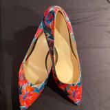 Nine West Shoes | Nine West Brightly Floral Pumps! | Color: Pink/Red | Size: 9