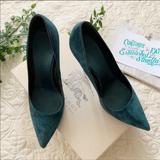 Burberry Shoes | Burberry Tranley Teal Green High Heels Sz 38 | Color: Blue/Green | Size: 8