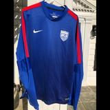Nike Tops | Nike Womens 2015 World Cup Soccer Pregame Gear | Color: Blue | Size: Xl