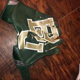 Nike Accessories | Nike Bu Baylor Football Ncaa Gloves Xl | Color: Green/White | Size: Xl