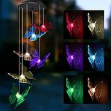 Joiedomi 2 Packs Solar Butterfly Wind Chime Color Changing, Outdoor Hanging Decorative Garden Lights Xmas Gifts for Decor Home Garden Patio Yard Indoor Outdoor