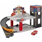 Disney Toys | Disney Cars Piston Cup Racing Garage Mcqueen Car | Color: Black/Red | Size: Osb