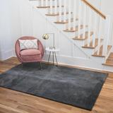 Latitude Run® Demarques Dark Gray Area Rug Polyester in Brown/Gray, Size 114.0 H x 79.0 W x 0.79 D in   Wayfair 1E60EDB394C84E9C83DA992217D565FD
