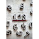 Gracie Oaks Elaxi Letter Block Metal in Gray, Size 2.0 H x 2.5 W x 0.5 D in   Wayfair 53E7D451915345F9BDBD54AE23D8AECA