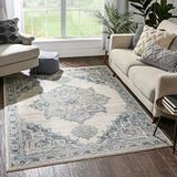 """Well Woven Sydney Branna Vintage Distressed Persian Blue 7'10"""" x 9'10"""" Area Rug"""