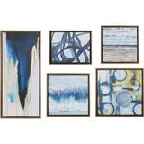 Madison Park Blue Bliss Gallery Art 5-pc. Canvas Wall Art