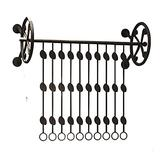 Wall-Mounted Clothes Rack Pipe Clothes Rack, Heavy Duty Detachable Wall Mounted Black Iron Garment Bar, Multi-Purpose Hanging Rod for Closet Storage, 80/100/120cm Length,Black