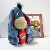 Disney Toys   2 Pc Euc Winnie The Pooh Book & Eeyore Stuffed Toy   Color: Blue/Brown   Size: Os