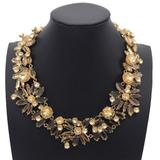 J. Crew Jewelry | J Crew Two Tone Floral Gold Collar Necklace | Color: Gold | Size: Os