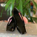 Gucci Shoes | Gucci Silver Buckle Black Leather Pumps Shoes | Color: Black | Size: 6.5