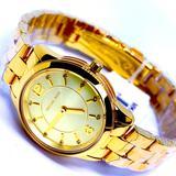 Michael Kors Accessories | Michael Kors Women'S Runway 3-Hand Gold-Tone Watch | Color: Gold | Size: Os
