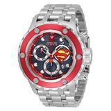 Invicta Men's DC Comics Superman Stainless Steel, Aluminum Swiss Quartz Diving Watch Strap, 31 (Model: 33815)
