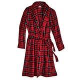 Men's John Blair Microfleece Robe, Red Tartan XL/2XL