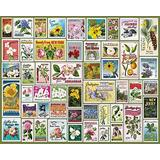 Jigsaw Puzzles 1000 Pieces for Adults Wooden Toy State Flower Stamps Wood Puzzles,Classic Educational Game Toys,Wall Art,Puzzles