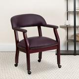 Offex Conference Chair Upholstered in Brown/Red, Size 31.5 H x 24.0 W x 24.0 D in   Wayfair OFX-90947-FF-RS