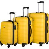 PENGFANG WORLDWIDE LLC Hardside Spinner Suitcase in Yellow, Size 30.0 H x 20.0 W x 12.0 D in | Wayfair FPP191030AAL