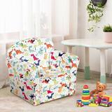 Zoomie Kids Doiron Kids Club Chair Upholstered in Brown/Green, Size 17.5 H x 19.5 W x 15.5 D in | Wayfair 04A38C5E711242DEA21D075117BCA6DD