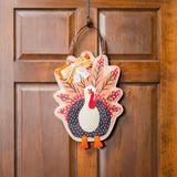 Evergreen Enterprises, Inc Turkey Burlap Door Decor Resin/Plastic, Size 17.5 H x 0.4 W x 10.5 D in | Wayfair 2DHB1005ECM