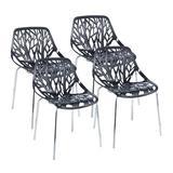 Orren Ellis Acari Stacking Side Chair Plastic/Acrylic/Plastic/Acrylic/Plastic in Black, Size 31.89 H x 20.67 W x 19.8 D in   Wayfair