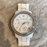 Michael Kors Jewelry   Michael Kors Ceramic Wrist Watch   Color: White   Size: Os