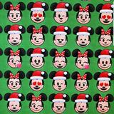 Disney Party Supplies   Disney Micky & Minnie Mouse Emoji Gift Wrap 1 Roll   Color: Green/Red   Size: Os