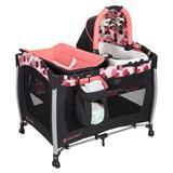 Baby Trend Bedside Crib w/ Mattress Plastic in Black, Size 33.08 H x 37.25 W x 40.55 D in | Wayfair PY72B15B