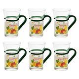 Red Barrel Studio® Arandip 10 oz. Drinking Glass Glass in Green, Size 4.5 H x 2.8 W in   Wayfair 847D959C30664EBFBA577CC18BEF1849