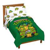Nickelodeon TMNT 4 Piece Toddler Bedding Set Polyester in Green/White | Wayfair JF40981