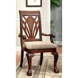 """Bloomsbury Market Anakie Queen Anne Back Arm Chair Upholstery Color: Tan in Tan/Cherry, Size 26.5"""" L x 24.5"""" W x 41.5"""" H 