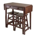 Winston Porter Buckhall 3 - Piece Drop Leaf Solid Wood Dining SetWood in Brown/Red, Size 33.86 H in   Wayfair D8A1181C2D464D17A027220BADCD87CC