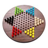 Sterling Games Chinese Checkers Family Board Game Wood in Brown, Size 1.5 H x 11.5 W x 11.5 D in   Wayfair 4279-1