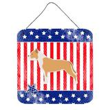 Trinx Patriotic Staffordshire Bull Terrier Metal Wall Decor Metal in Brown, Size 8.0 H x 6.0 W in | Wayfair 4194154B8E91425F8EE296CA82962049