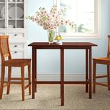 Three Posts™ Aitkin Counter Height Drop Leaf Solid Wood Dining TableWood in Brown/Red, Size 35.43 H in   Wayfair 4905A2F89B0948C2A179C210A056A86C