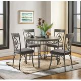 Landis Dining Table in Oak & Gunmetal - Acme Furniture 73185