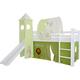 3tlg. Vorhang Set Höhle Dschungel für Hochbett Spielbett Vorhänge Kinderbett